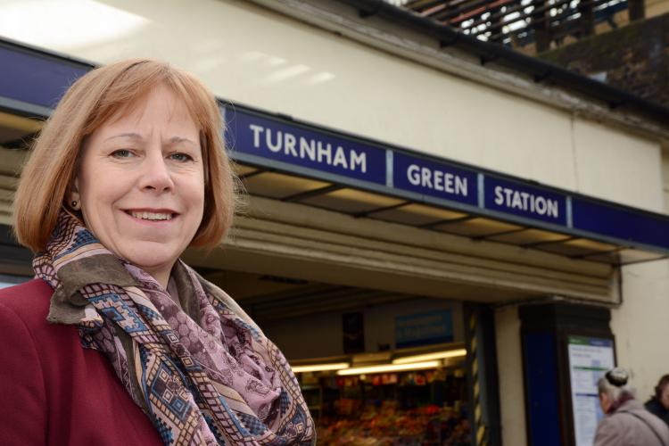 Ruth at Turnham Green station
