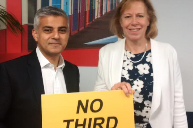 Ruth with Sadiq Khan MP